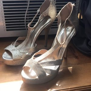Sparkly Gold size 10 stiletto heels